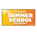"Summer School Registration Banner 36""x72"""