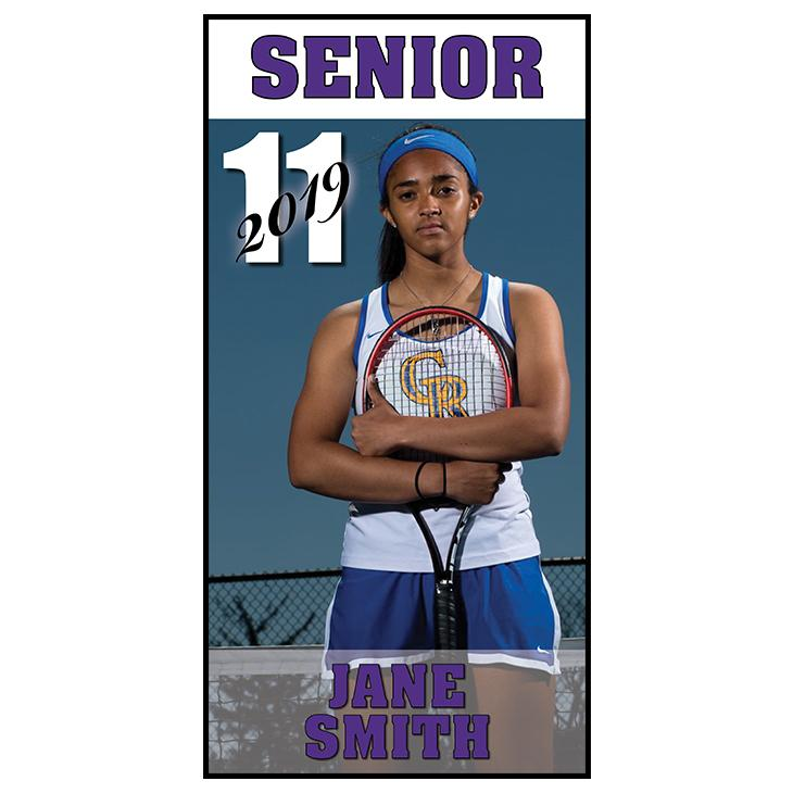 "Blue Springs High Individual Student Banner 36""x72"""