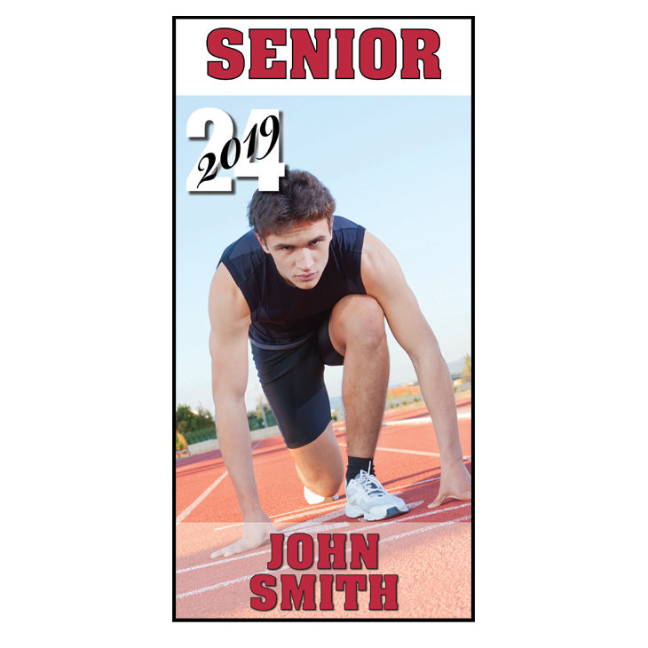 "Heights High Individual Student Banner 36""x72"""