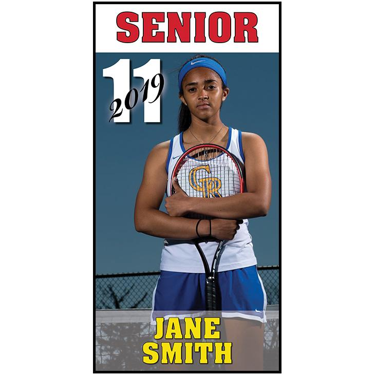 "Raytown South High Individual Student Banner 36""x72"""