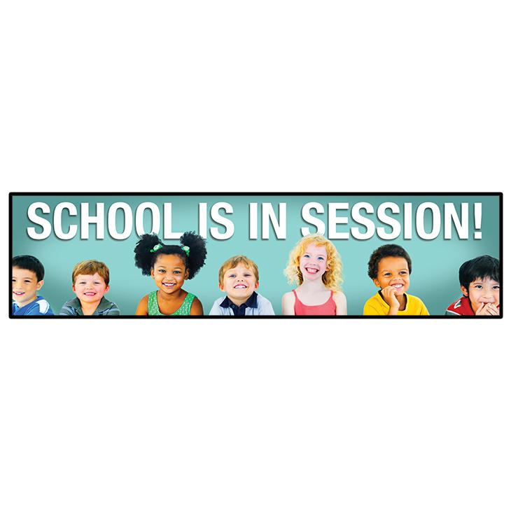 "School In Session Primary Ed Banner 24""x96"""