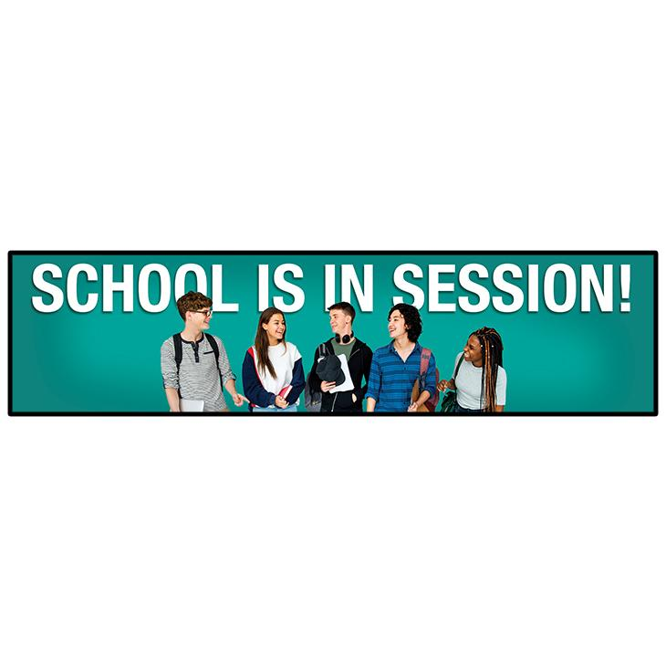 School In Session Secondary Ed Banner 24