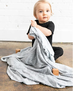 Knit Swaddle Blanket - Asher