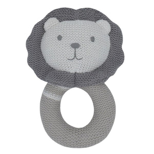 Austin the Lion - Knitted Rattle
