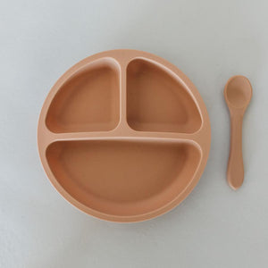 Silicone Suction Divided Plate with Spoon - Sirocco