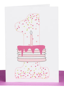 Baby Greeting Card Numbers - Small