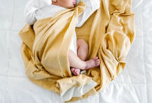 Load image into Gallery viewer, Knit Swaddle Blanket - Marigold