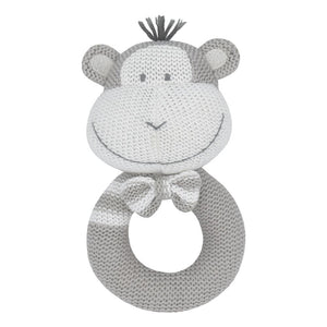 Max the Monkey - Knitted Rattle