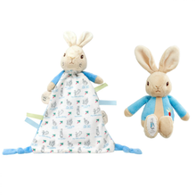 Load image into Gallery viewer, Peter Rabbit Rattle & Comforter Gift Set