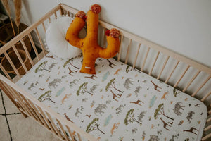 Fitted Cot Sheet - African Safari