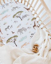 Load image into Gallery viewer, Fitted Bassinet & Change Mat Cover - Safari