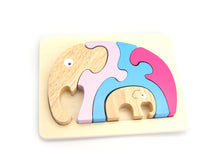 Load image into Gallery viewer, Stacking Jigsaw - Elephant & Baby