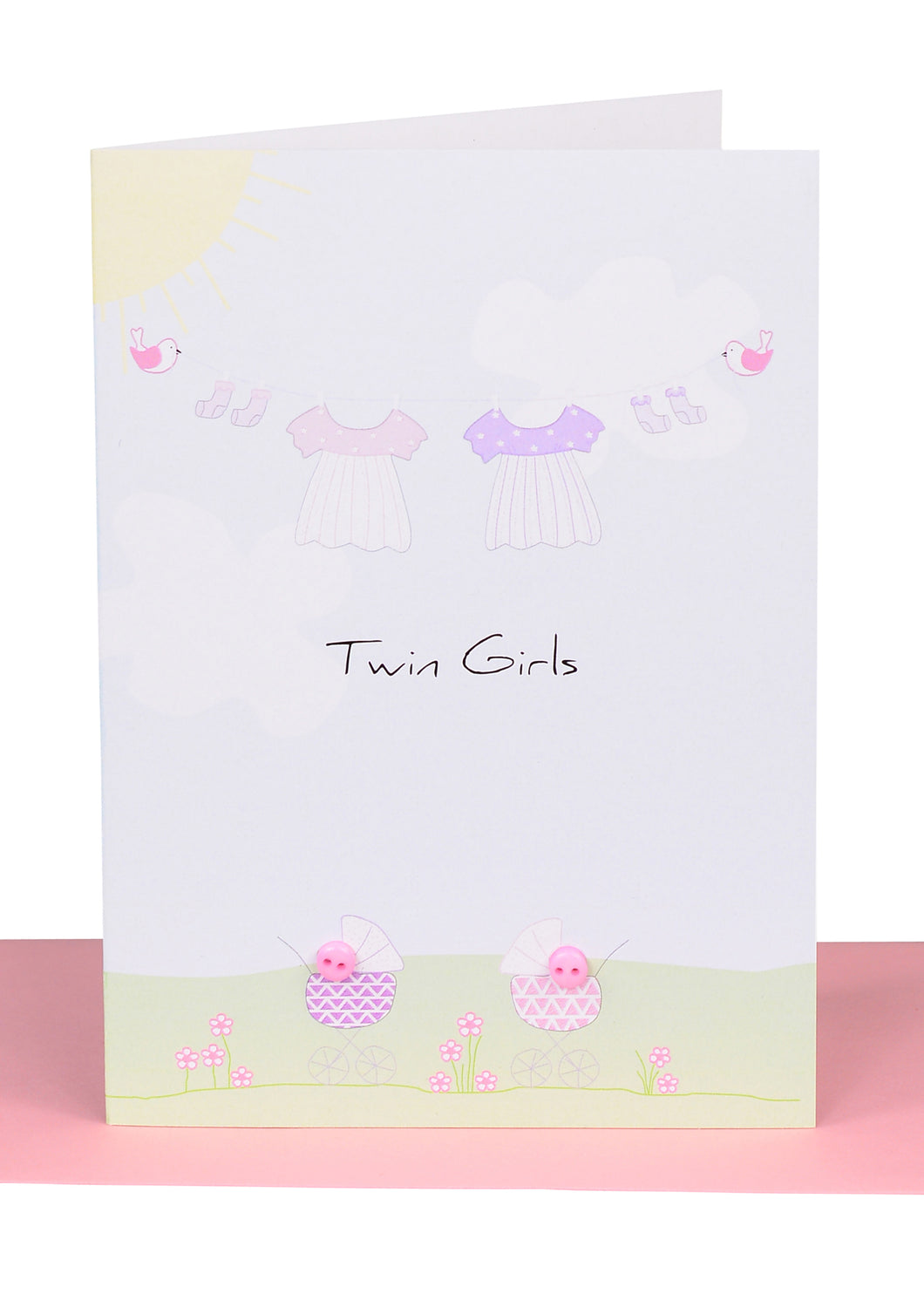 Baby Greeting Cards Twins - Large