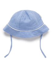 Load image into Gallery viewer, Woven Sunhat - Blue