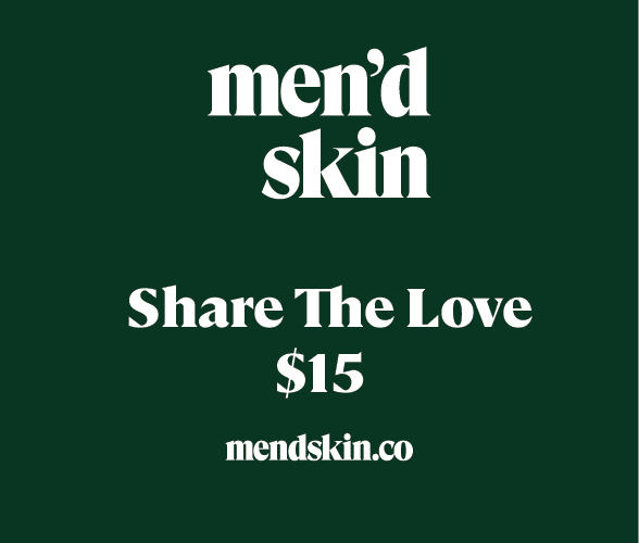 $15 skin care for men gift card from Mend Skin Co.
