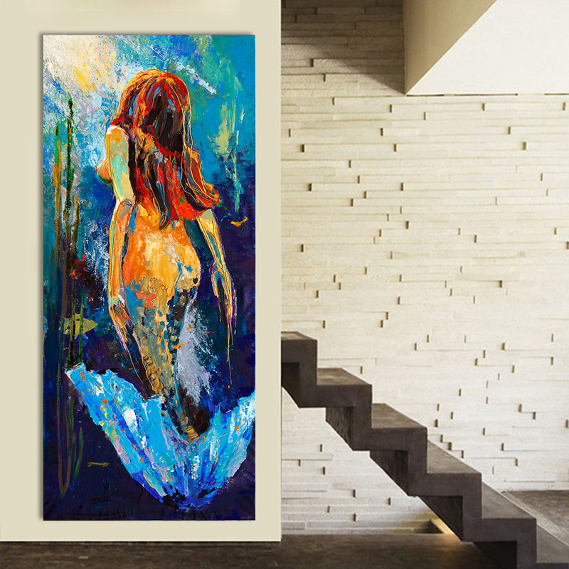 New Mermaid Canvas Print Home Decor Canvas Print Beach Decor Coastal
