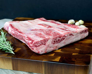 Large Wagyu short rib plate great for grilling. Cut from fullblood wagyu cows