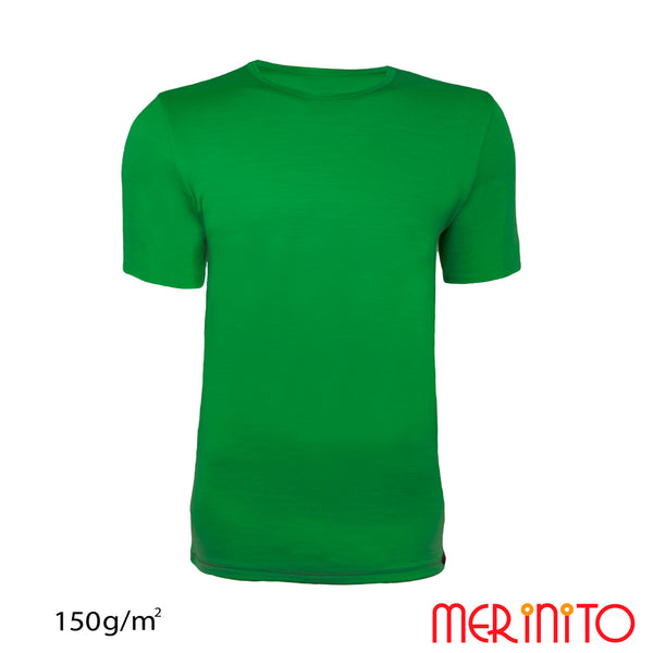 Tricou barbatesc 100% merino 150g/mp
