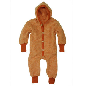Overall copii Cosilana din lana merinos fleece orange