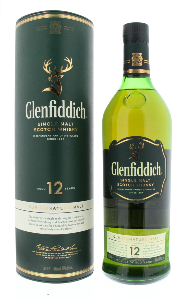 Glenfiddich Single Malt 12 years 1LTR