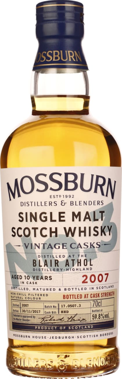 Mossburn No.3 Blair Athol 10 years Cask Strength 70CL - Aristo Spirits