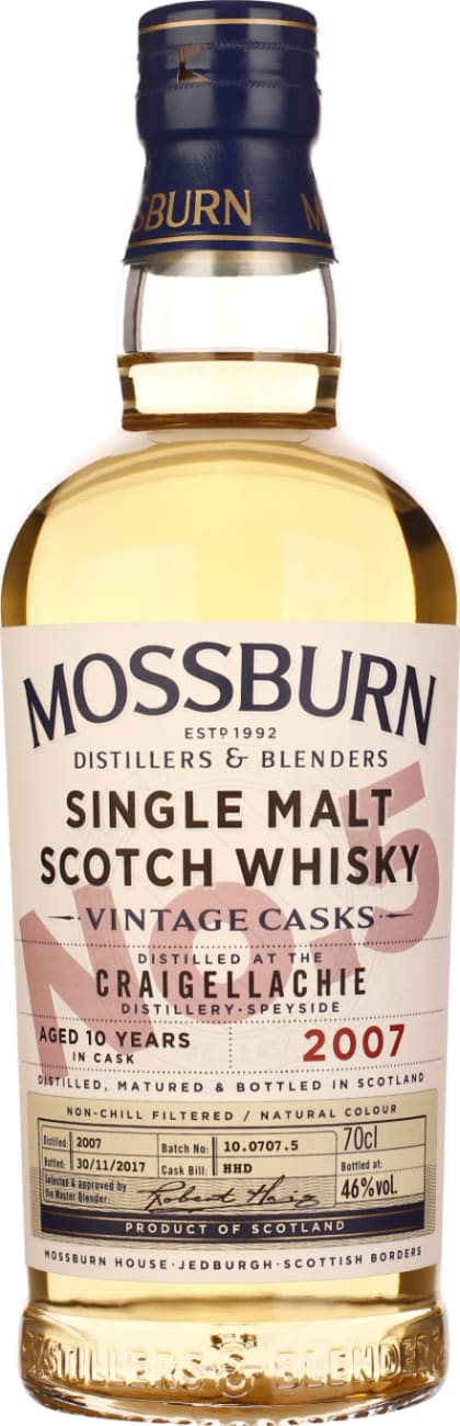 Mossburn No.5 Craigellachie 10 years Single Malt 70CL - Aristo Spirits