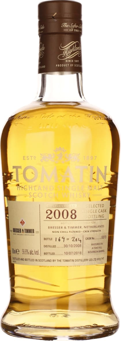 Tomatin Single Cask Vintage 2008 B & T 70CL - Aristo Spirits