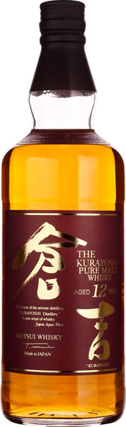 Kurayoshi 12 years Pure Malt 70CL - Aristo Spirits