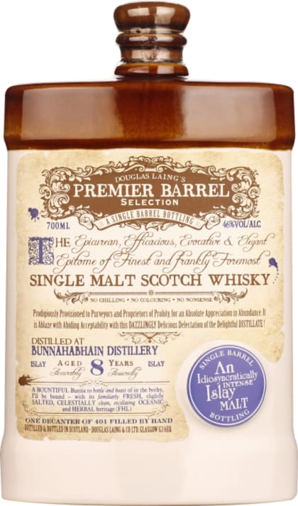 Douglas Laing's Bunnahabhain eight years Premier Barrel Select 70CL - Aristo Spirits