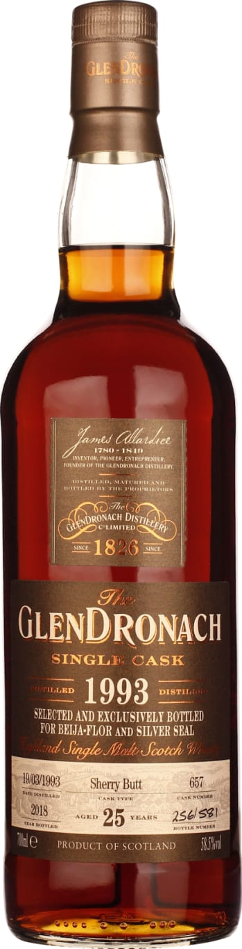 GlenDronach 25 years from 1993 to 2018 Beija-Flor & Silver Seal 70CL - Aristo Spirits