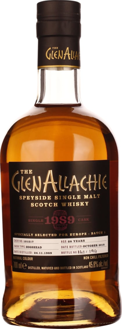 GlenAllachie 28 years Single Cask 1989 70CL - Aristo Spirits