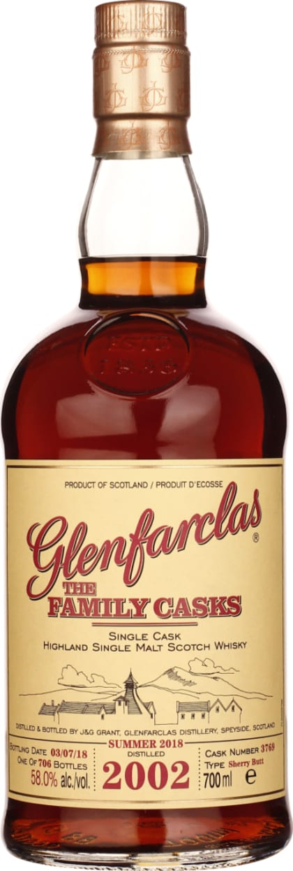 Vintage 2002 Glenfarclas Family Casks 70CL - Aristo Spirits