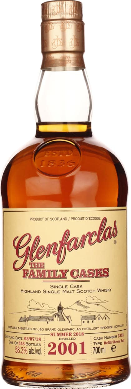Vintage 2001 Glenfarclas Family Casks 70CL - Aristo Spirits