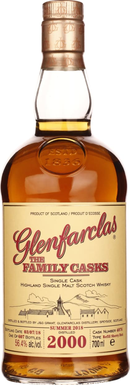 Vintage 2000 Glenfarclas Family Casks 70CL - Aristo Spirits