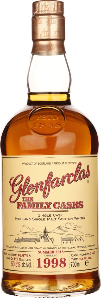 Vintage 1998 Glenfarclas Family Casks 70CL - Aristo Spirits