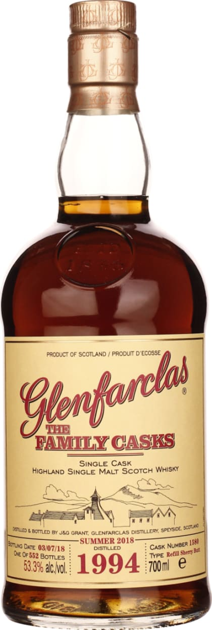 Vintage 1994 Glenfarclas Family Casks 70CL - Aristo Spirits