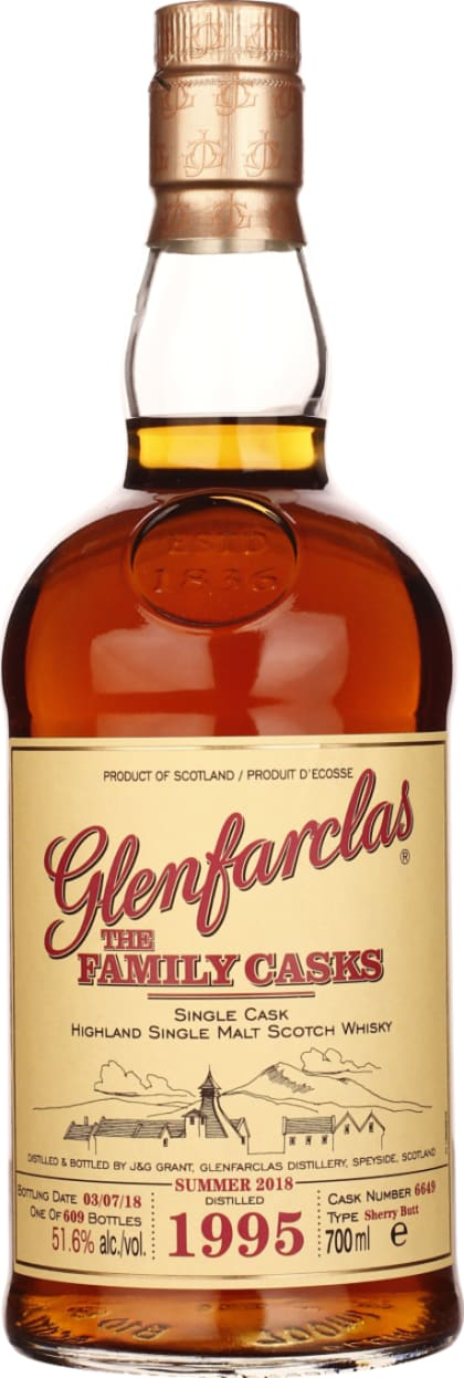 Vintage 1995 Glenfarclas Family Casks 70CL - Aristo Spirits