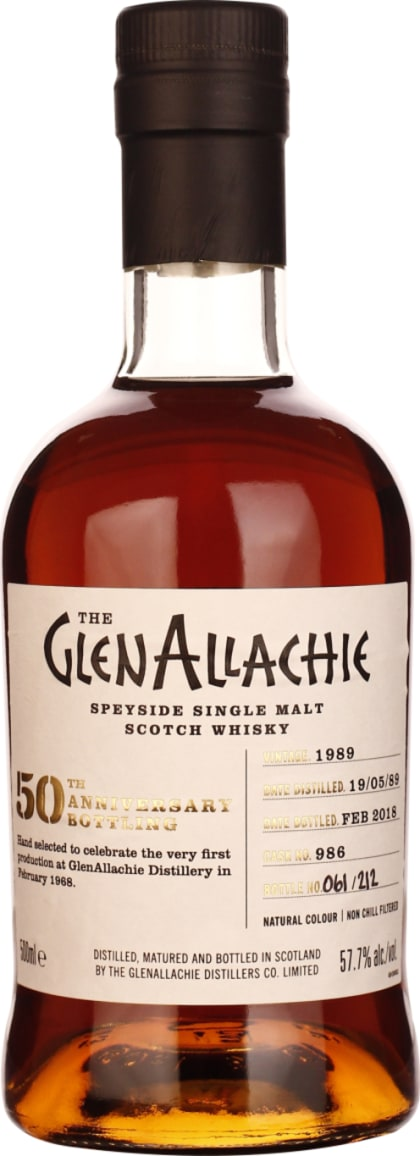 GlenAllachie Vintage 1989 Cask 986 Single Malt 50cl - Aristo Spirits