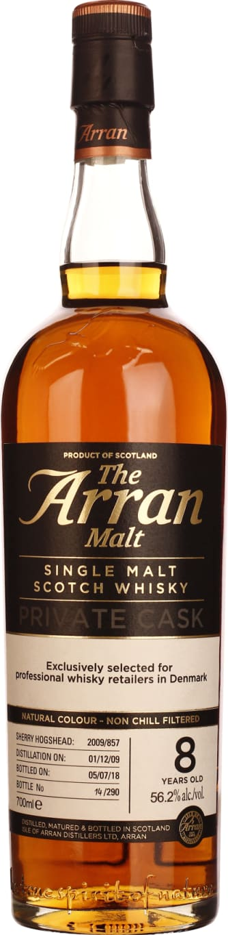 Arran 8 Years 2009 Private Cask Single Malt 70CL - Aristo Spirits