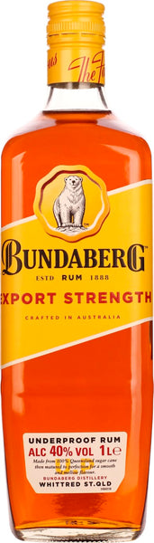 Bundaberg Rum 1LTR Export Strength - Aristo Spirits