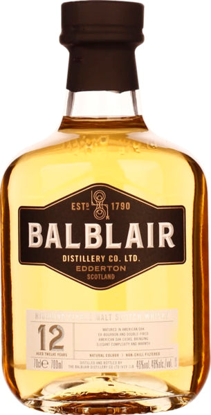 Balblair Single Malt 12 years 70CL - Aristo Spirits