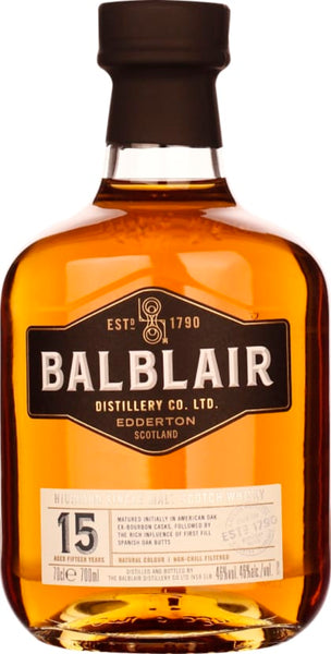 Balblair Single Malt 15 years 70CL - Aristo Spirits