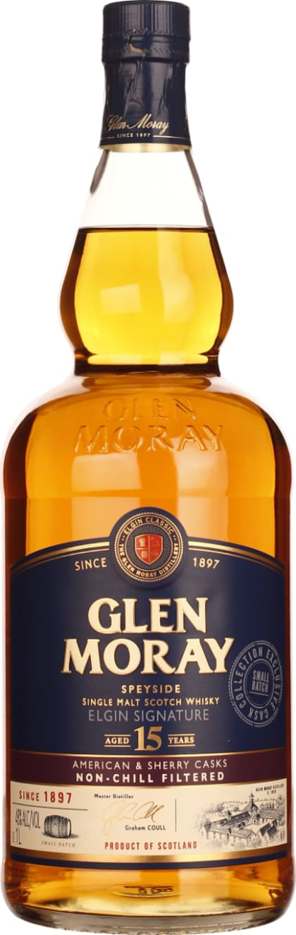 Glen Moray 15 years Single Malt 1LTR - Aristo Spirits