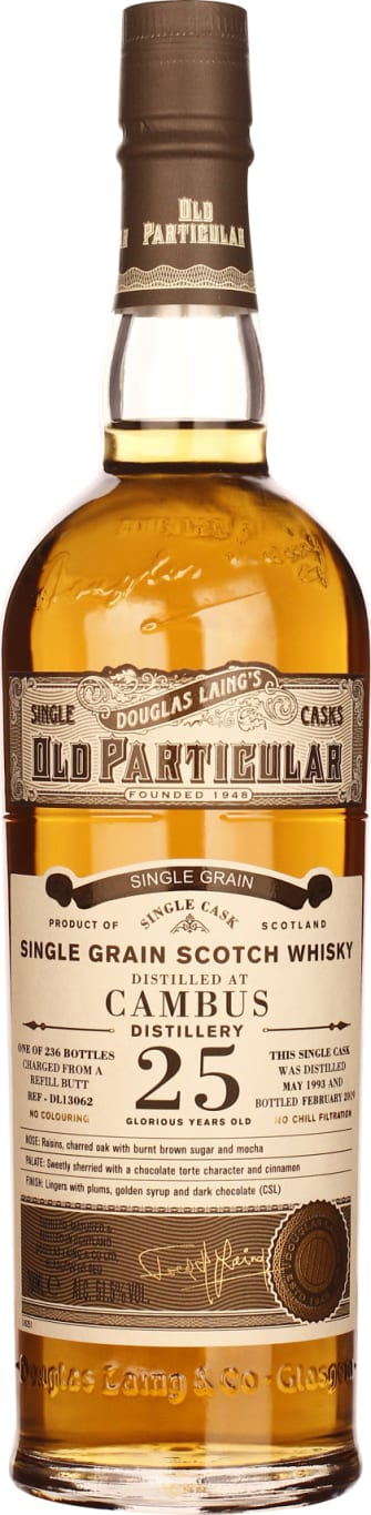 Douglas Laing's 25 years in 1993 Old Cambus Particular 70CL - Aristo Spirits