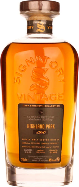 1990 Highland Park Cask Strength Signatory 70CL - Aristo Spirits