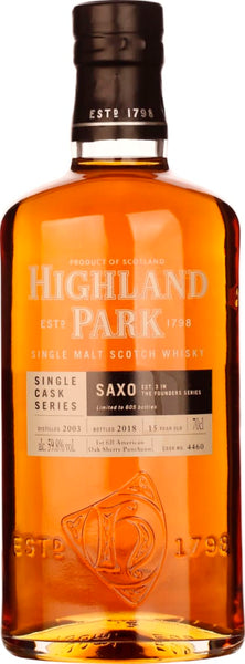Highland Park 15 years Saxo Single Cask 70CL - Aristo Spirits