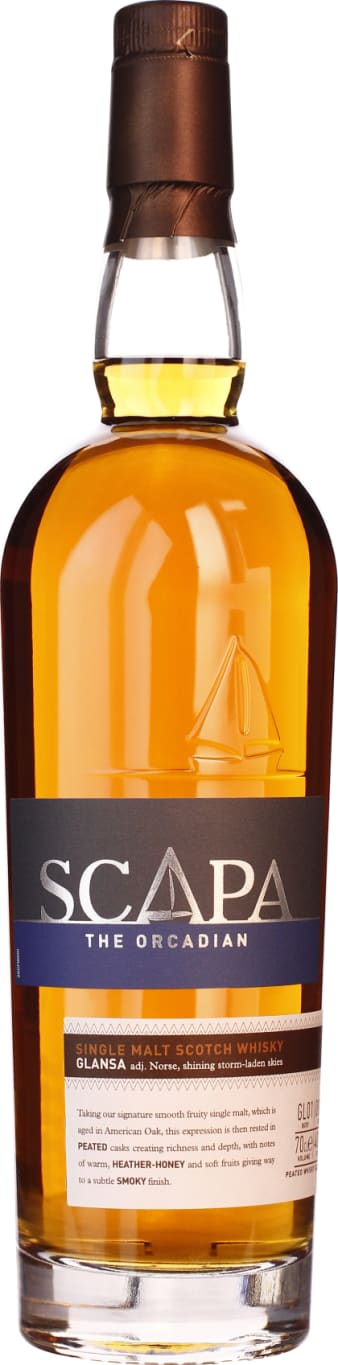 The Orcadian GLÄNSA Scapa Single Malt Peated 70CL - Aristo Spirits
