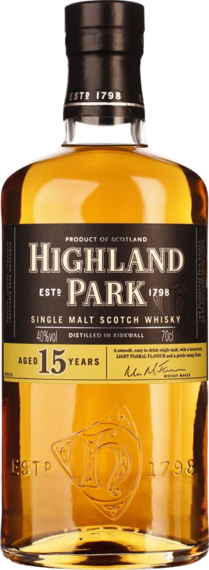 Highland Park 15 years Single Malt 70CL - Aristo Spirits