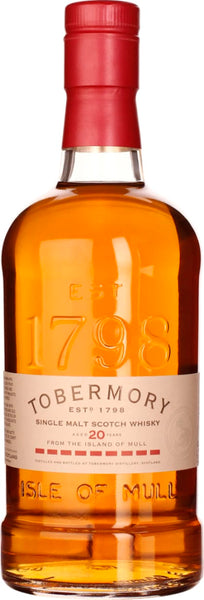 Tobermory Single Malt 20 years 70CL - Aristo Spirits