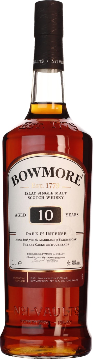 Bowmore Single Malt 10 years Dark and Intense 1LTR - Aristo Spirits